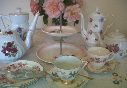 A selection of our vintage china