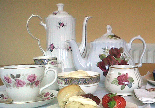 Vintage afternoon tea party served to you on beautiful vintage china