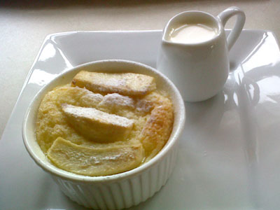 Pear and Pannetone Pudding