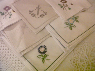A selection of our vintage napkins