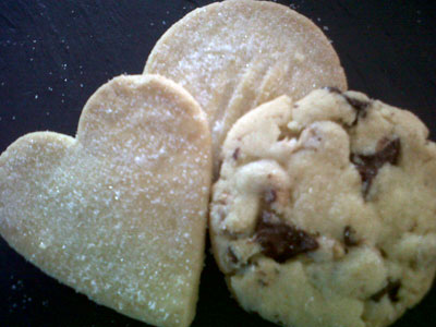 Shortbread Hearts and Cookies